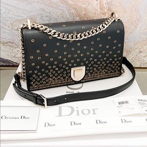 Christian Dior Diorama Medium Studded Chain Bag